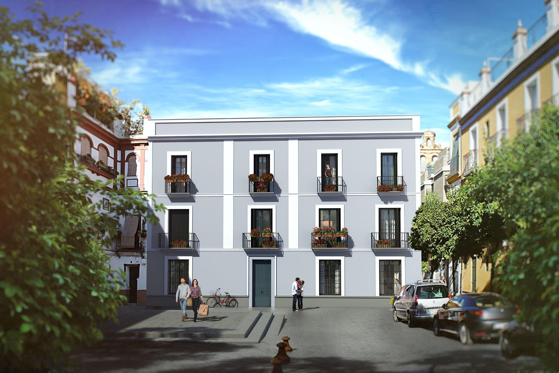 Edificio Almirante, Sevilla, fachada principal