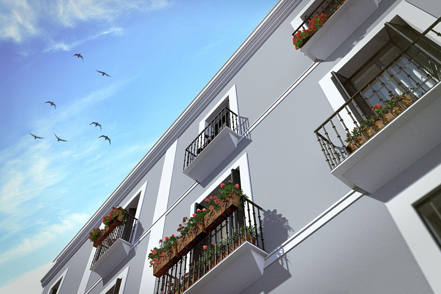 Edificio Almirante, Sevilla, detalle de fachada